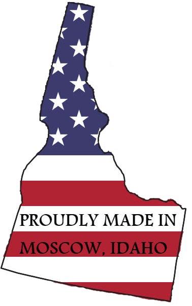 Idaho with US Flag